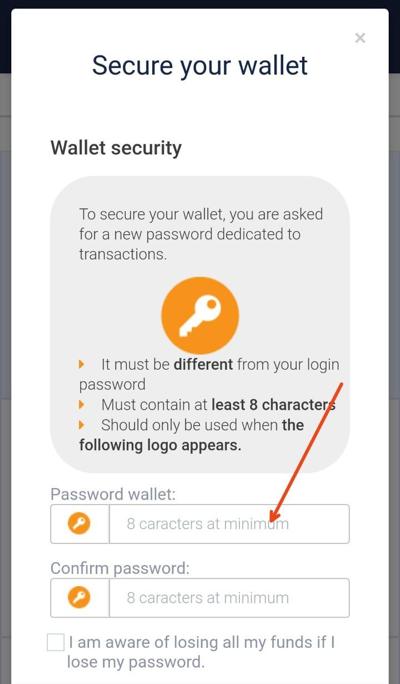 Password SaTT Wallet