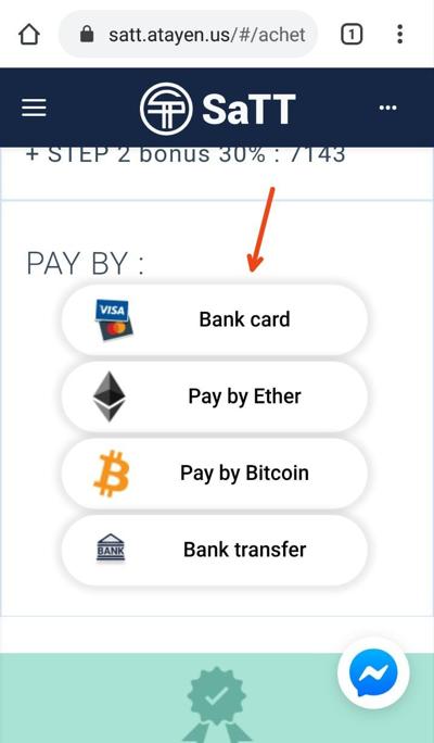 Choose Currency to buy SaTT